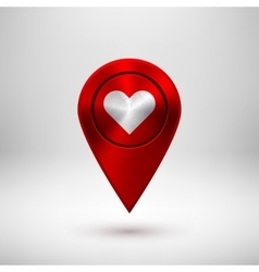 Red Technology GPS Map Pointer vector