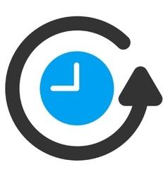Restore Clock Icon vector image