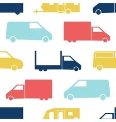 Retro truck seamless pattern vector image