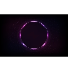 Round shiny frame background with light bursts vector