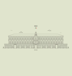 royal palace in naples italy vector image