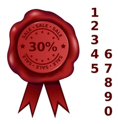 Sale Percent Wax Seal vector image