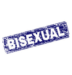Scratched bisexual framed rounded rectangle stamp vector