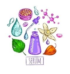 Serum Cream Round Composition vector