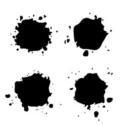 Set black blob on white vector