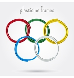Set of five plasticine frames vector