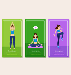 set of sport and healthy vector image