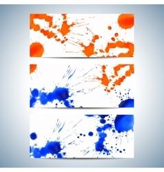 Set of watercolor horizontal backgrounds Modern vector image
