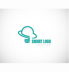 Smart solution logo gear logo smart idea creative vector