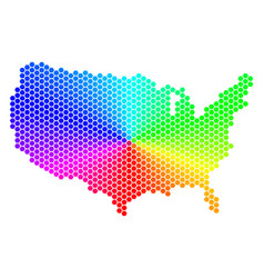 spectrum hexagon usa map vector image