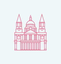 St Paul s Cathedral vector image