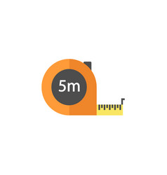 tape measure flat icon build repair elements vector image