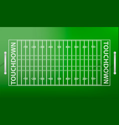 Top view american football field concept vector