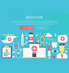 trendy flat gradient color medicine concept vector image