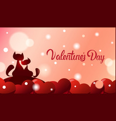 valentines day greeting card background two vector image