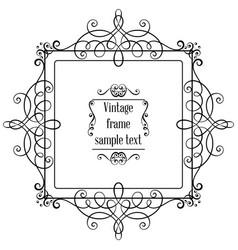 vintage ornamental greeting card vector image