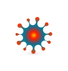 virus abstract icon microbe symbol vector image