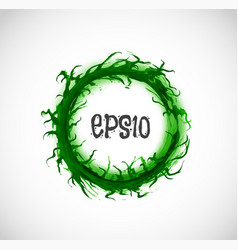 big green grunge circle with place for your text vector image