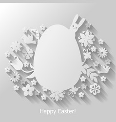 easter egg mix vector image vector image