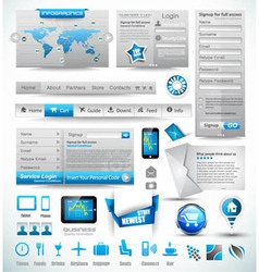 Premium templates and Web stuffs vector image
