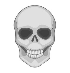 skull icon cartoon style vector image