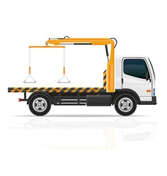 tow truck 02 vector image vector image