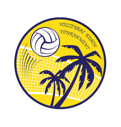 volleyball beach tournament vector image vector image