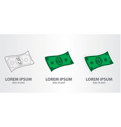 icon of the dollar vector image