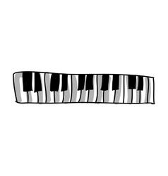 Piano keys icon image vector