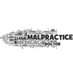 is it worth it to file a malpractice claim text vector image