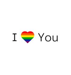 lgbt love gay pride symbol vector image