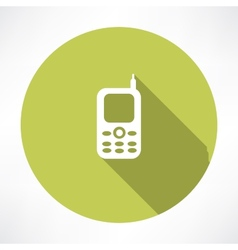 Old mobile phone vector image vector image