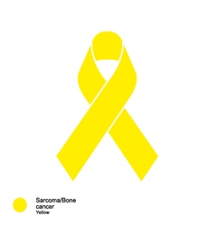 sarcoma and bone cancer ribbon vector image