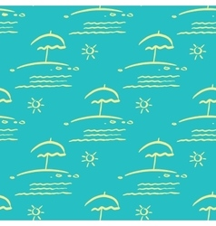 Seamless background beach holiday vector image