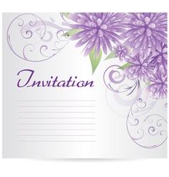 Violet flowers background vector
