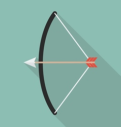 Bow and arrow flat style vector image