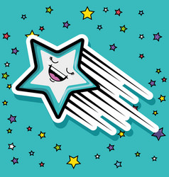 cute fashion patch pop art comic style vector image