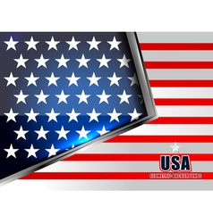 flag of american geometric background vector image