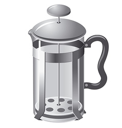French press teapot vector