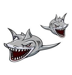 Gray shark mascot vector image vector image