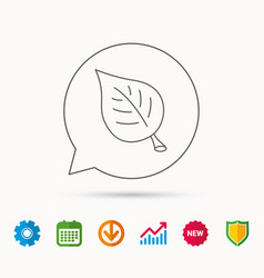 Leaf icon natural eco sign vector