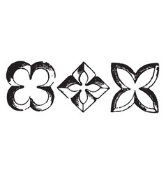 Quatrefoil architecture overall outline of four vector
