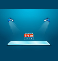 showroom with spotlights vector image
