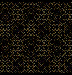 abstract gold geometric lines pattern on black vector image