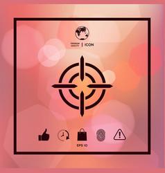 Aim icon symbol vector