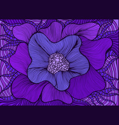 amazing colorful fantasy blooming flower violet vector image
