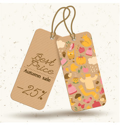 Autumn vintage price tags concept vector