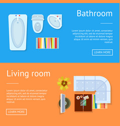 bathroom and living room web vector image