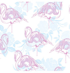 beautiful seamless tropical pattern background vector image