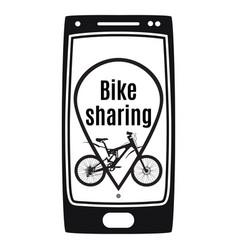 Bike sharing rental service concept vector